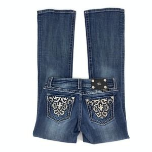 Miss Me Low Rise Boot Cut Jeans Size 27